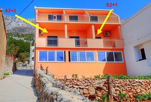 Apartmány GALEB - Brist